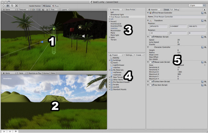 Interface da Unity